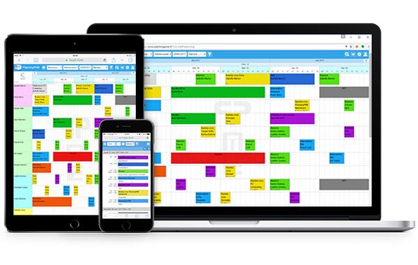 Pianifica con PlanningPME Web access Responsive disponibile su tutte le device
