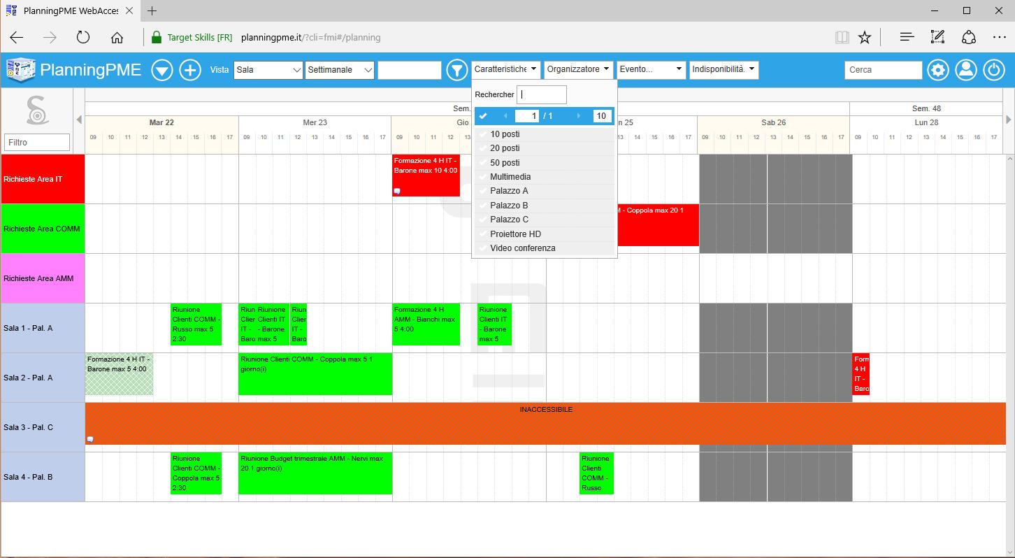 Prenotazione sale con PlanningPME