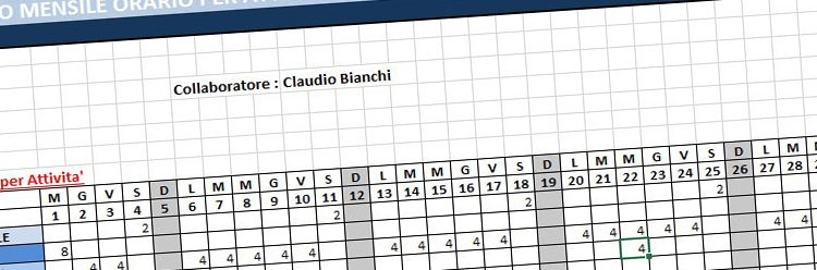 Nuova estrazione delle attività mensili in Excel